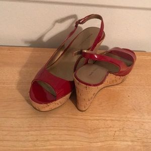 Marc Fisher Red Wedge Heels